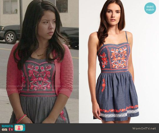 Mariana's floral embroidered dress on The Fosters. Outfit Details: http://wornontv.net/49830/ #TheFosters