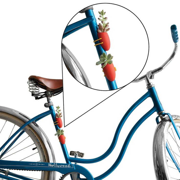 {So Random} I am absolutely *smitten* with this bike planter, lol. WTF. Love it. Reminds me of VW having a vase. Opinions? Crazy? Or crazy cool?