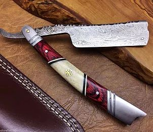 Damascus Steel Straight Razors, made to function, sturdy and long lasting, top quality and made with best materials