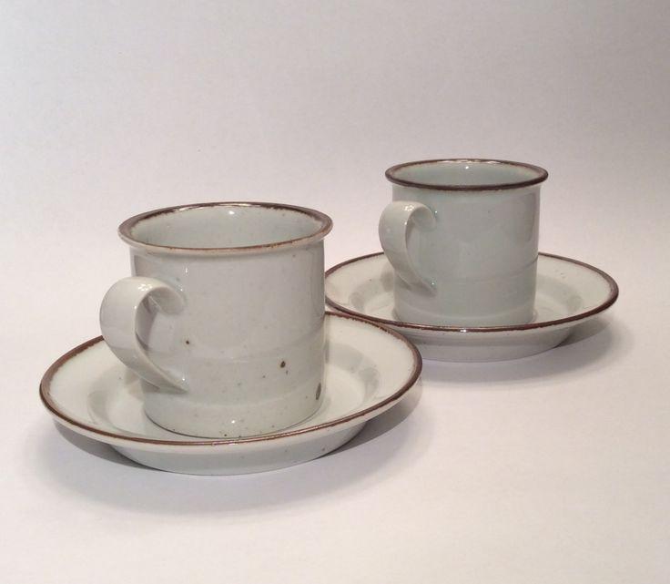 Dansk Brown Mist Coffee Mug Cup \u0026 Saucer Set of Two Vintage Stoneware Speckled Brown Trim Made in Japan & Best 31 Dansk Japan images on Pinterest | Casserole dishes Ceramica ...