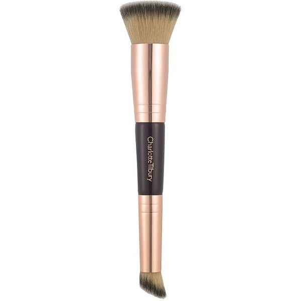 Charlotte Tilbury Hollywood Complexion Brush ($40) ❤ liked on Polyvore featuring beauty products, makeup, makeup tools, makeup brushes, contour makeup brush, angled makeup brush, slanted makeup brush, charlotte tilbury and contour brush