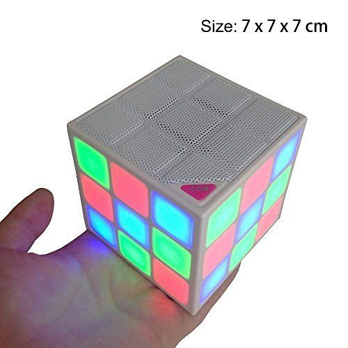 Happy Hours - Magic Wireless Bluetooth Subwoofer Speaker with Led Color Changing / Portable Outdoor Rubik's Cube Speakers with Microphone Builtin. Mini and cute design is great for travel, camping, picnic and other outdoor activities, which also could be used at home to creat any atmosphere you want, no obstacles within 10m for you connect bluetooth;. Futuristic appearance with soft bright lighting carrying high-fidelity speaker is a good adornment for your office, desktop, night table…