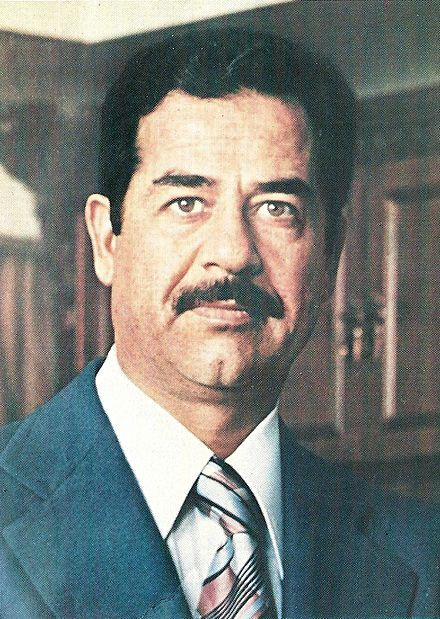 Saddam Hussein Dictator of Iraq 1979-2003.