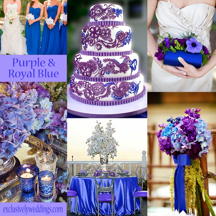 Purple And Royal Blue Wedding Colors