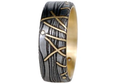 Damascus Steel Wedding Rings Alternative Metals Matching Non Traditional