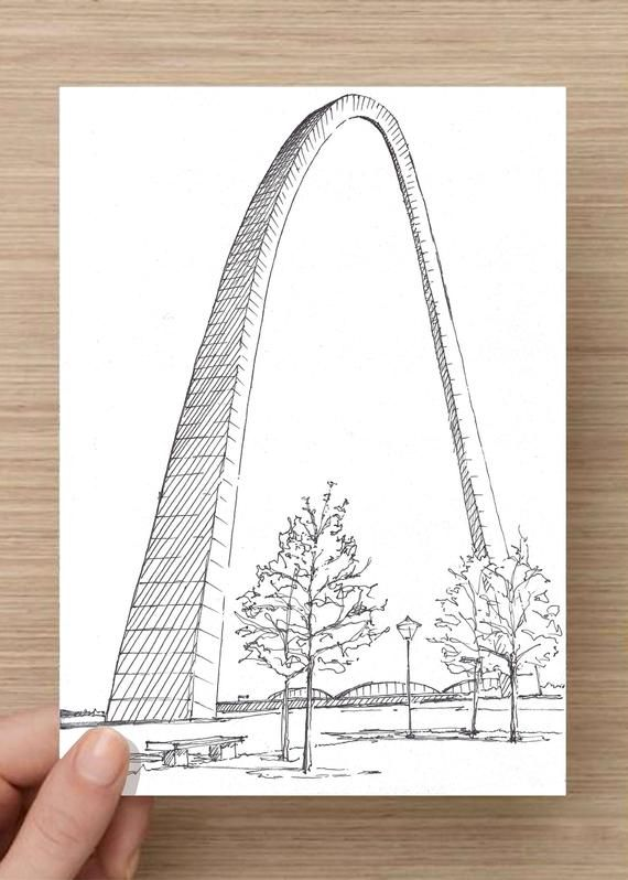 St Louis Arch In St Louis Missouri Public Art National Etsy In 2020 Saint Louis Arch St Louis Art Original Ink Drawing