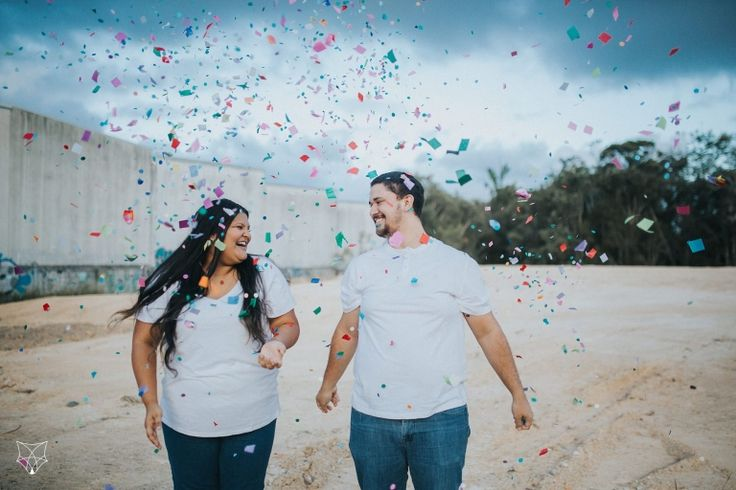 Maddy + Chris | Fun colourful confetti + holi powder engagement session | White Fox Studios
