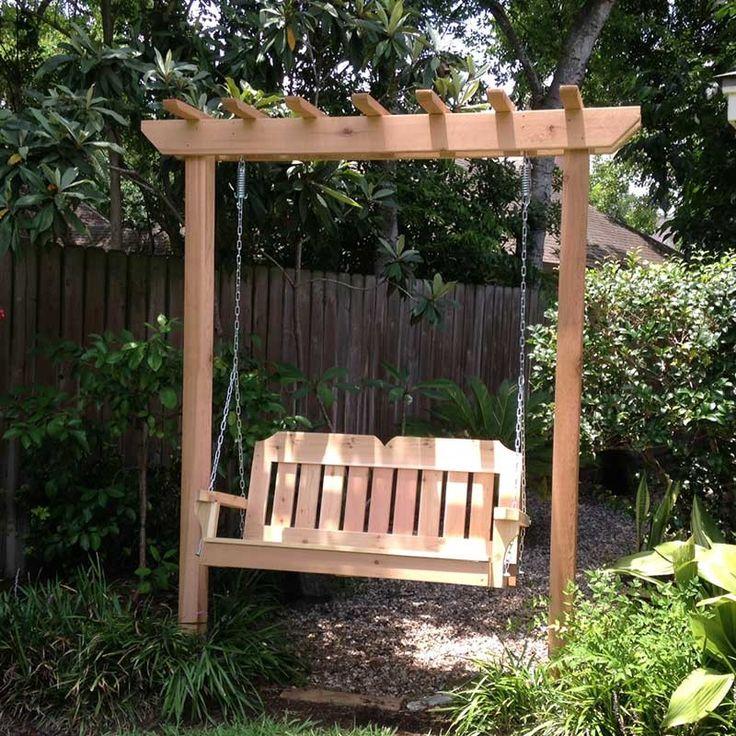 TMP Outdoor Furniture Victorian Red Cedar Arbor Garden Swing Set