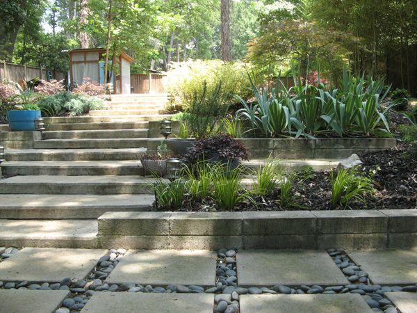 Retaining Wall With Pavers | Retaining Wall | Pinterest | Retaining Walls,  Concrete Garden And Gardens