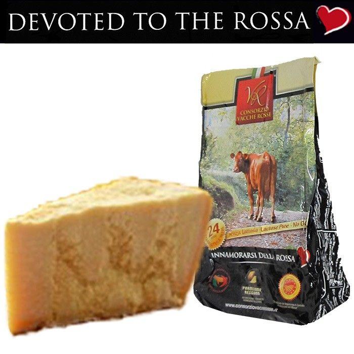 "Parmigiano Reggiano PDO ""Vacche Rosse / Red Cows"" seasoned 24/30 months 1 piece kg.1 http://bit.ly/1QQJMQr #Parmigiano, #Reggiano ,#ParmaHam,#CoppadiParma"