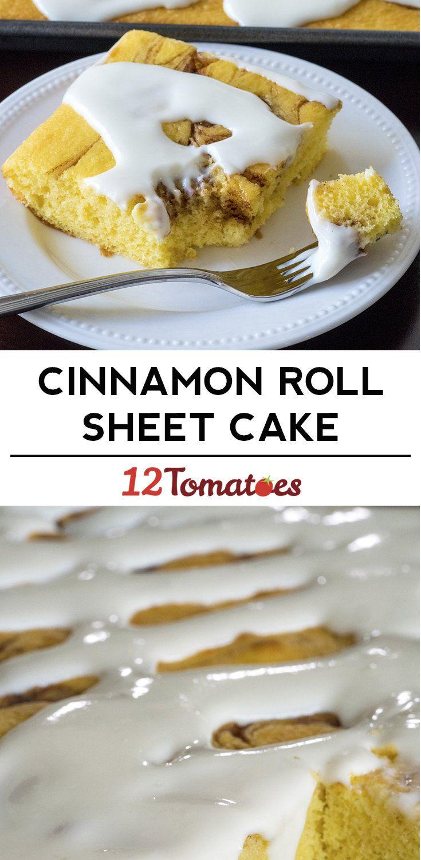 Cinnamon Roll Cake Recipe Sheet Cake Recipes Breakfast Cake