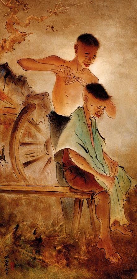 TUKANG CUKUR (BARBER), artist Cheng Shui (b1981, Bogor, West Java, Indonesia)