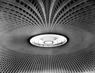 Palazzo dello sport - Roma - di Pier Luigi Nervi, foto di Oscar Savio 1960