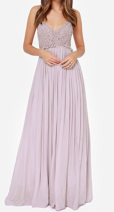 Lavender Bohemia Style Lace Dress.