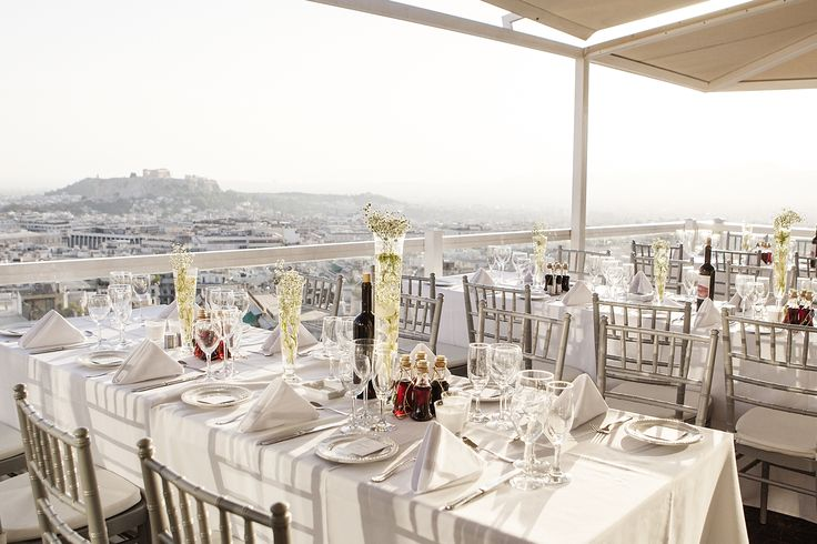 #Dreams In Style #Athens #Greece #Acropolis #roof garden #tablesetting #decoration #Acropolis view #greek wedding #weddingplanner  Photo credits: Petros Delatollas