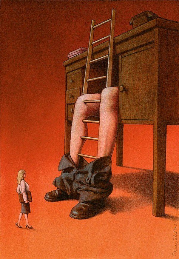 Polish illustrator Pawel Kuczynski needs little else in the way of inspiration for his satirical drawings than to take a look at the twisted world around him.