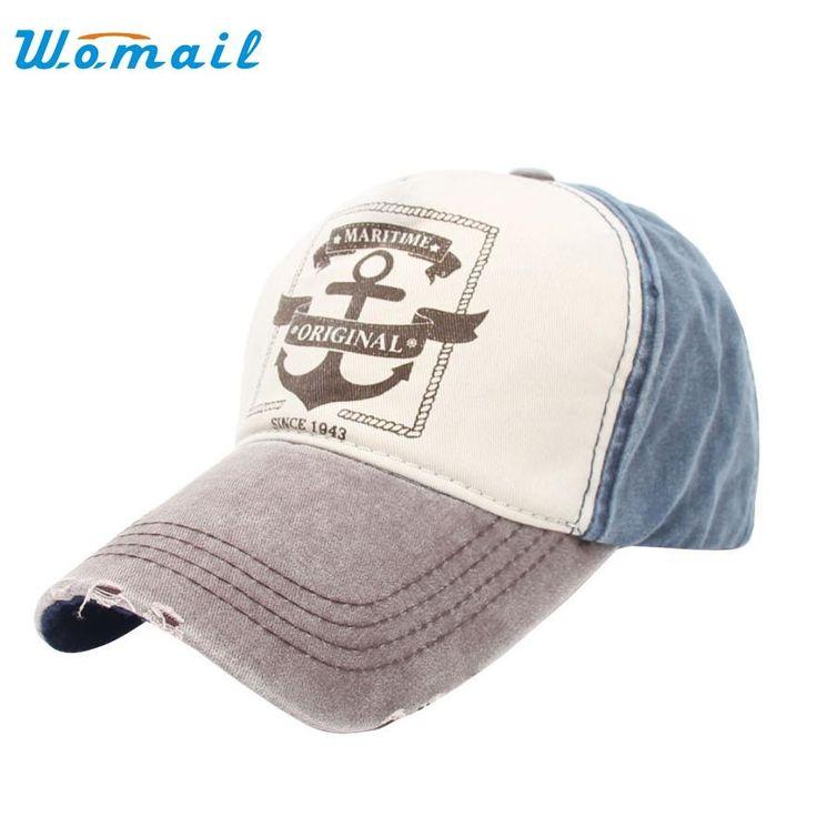 [Visit to Buy] Fashion Unisex Retro Anchor Hip Hop Adjustable Baseball Snapback Hat Cap JUL 06 #Advertisement