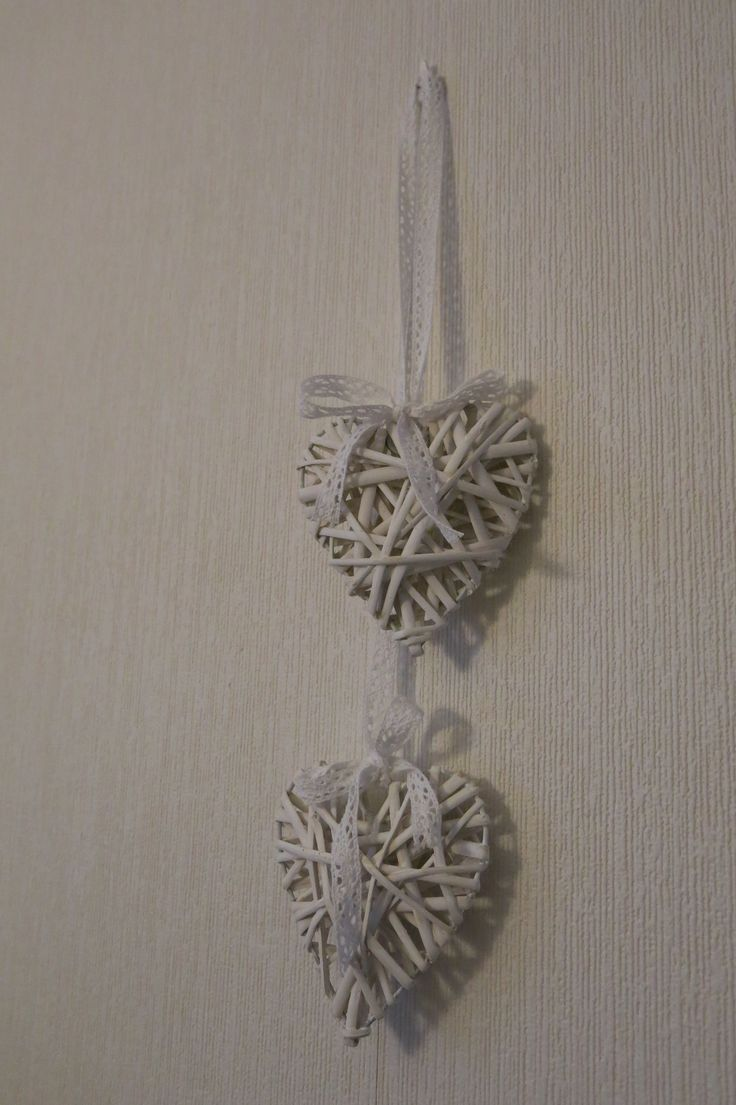 White hearts with lace