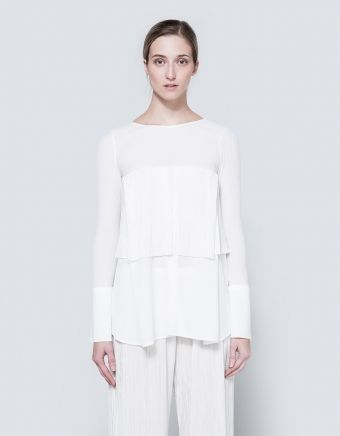 Pearl Pleat Layer Blouse