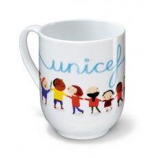 """La tazza """"Un mondo per tutti""""    Una semplice tazza per iniziare la tua nuova giornata sorseggiando la tua colazione con UNICEF. Questa tazza ha un piccolo valore economico ma un immenso valore per l'aiuto che tanti bambini possono ricevere in cambio."""