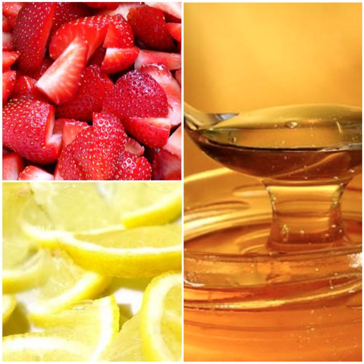 Best Face Masks For Acne Prone Skin: Strawberry, Honey And Lemon Face Mask (amazing For Acne