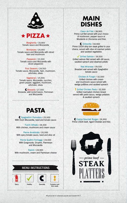 @Michael Dussert Morgan - This site does beautiful menu design. Art of the Menu: Cozmo Café