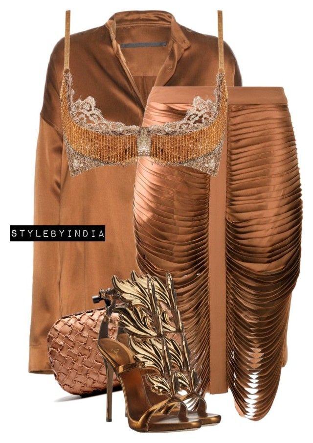 Untitled #1641 by stylebyindia on Polyvore featuring polyvore, fashion, style, Haider Ackermann, Dion Lee, Agent Provocateur, Giuseppe Zanotti, Bottega Veneta and clothing