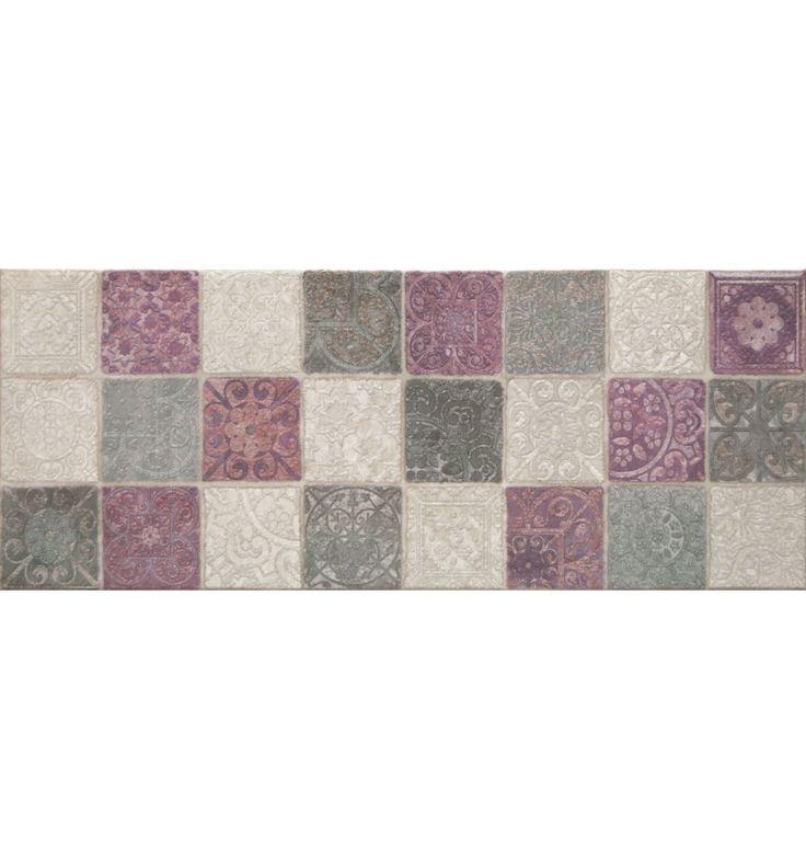 Mosaik p kakelmonster dekoration stucatto vit 20x50 for Dekoration mosaik