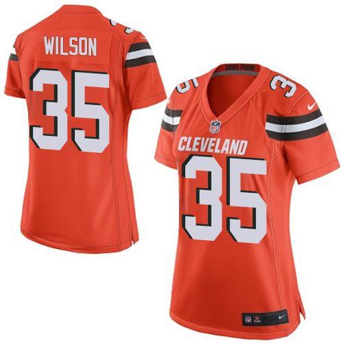 Women's Nike Cleveland Browns #35 Howard Wilson Limited Orange Alternate NFL Jersey