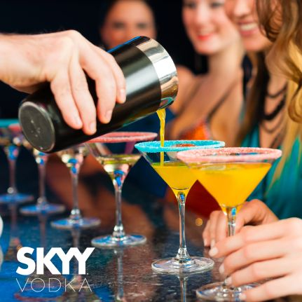 Celebrate the little wins as if they are the big wins. We serve SKYY Vodka ! #YYC #YYCLiving