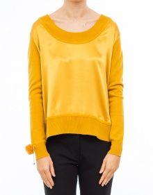 Jersey seda y punto - Amarillo TWIN-SET --- Outlet