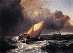 Dutch Boats in a Gale 1801  Joseph Mallord William Turner