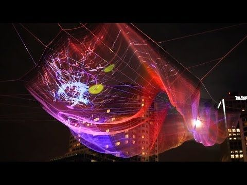 unnumbered sparks by janet echelman and aaron koblin –creative director at google
