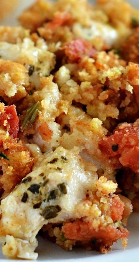 Italian and Chicken Stuffing Bake ~ Super delicious