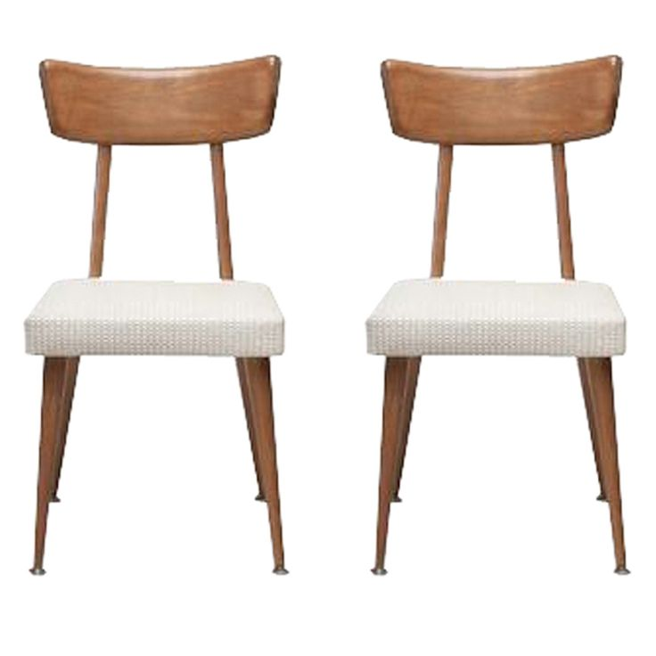 set of five mid century dining chairs in the style of paul mccobb