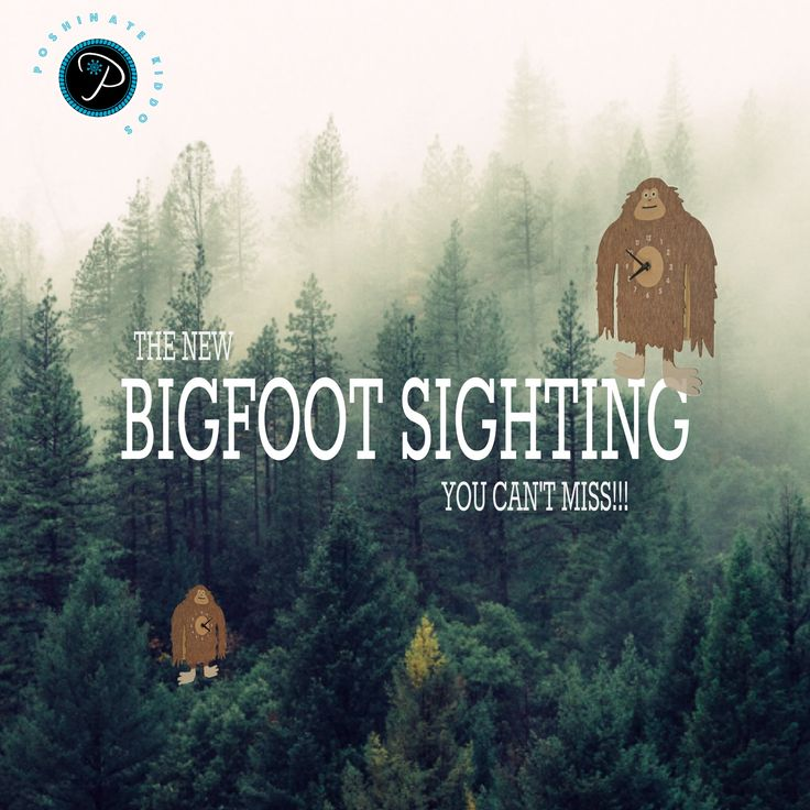 📢 Fresh Off The Press! 📰 There's been a #New #BigFoot Sighting🔎 This rare sighting is said to have been captured at Poshinate Kiddos Baby & Kids Store.  Come on in to capture a glimpse of him or to see our other New Adorable Pendulum Clocks!😃