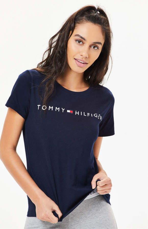 Tommy Hilfiger Graphic T Shirt Stand Style Casual Tommy Hilfiger Shirts Women Teenage Fashion Outfits Tommy Hilfiger T Shirt