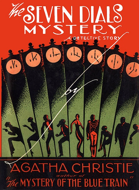 Extremely Rare Deco US First Edition Dust Jacket/Cover-Seven Dials Mystery by finsbry