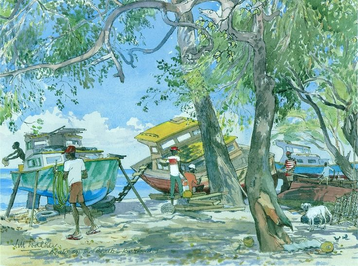 Explore The Beauty Of Caribbean: 32 Best Jill Walker & Best Of Barbados Art Images On