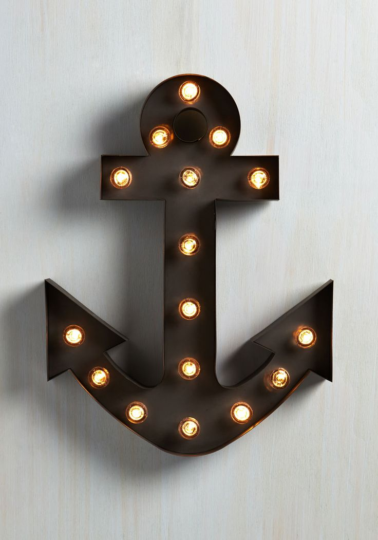 Oh, The Places You'll Glow Lamp. The spirit of adventure is cast into your home when you hang this nautical marquee lamp! #black #modcloth