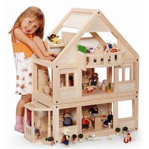 Кукольный домик Plantoys трехэтажный деревянный