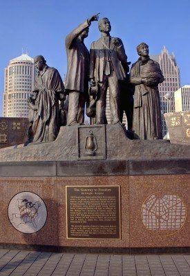 Detroit Underground Railroad Monument | Detroit Riverwalk | by artist Ed Dwight