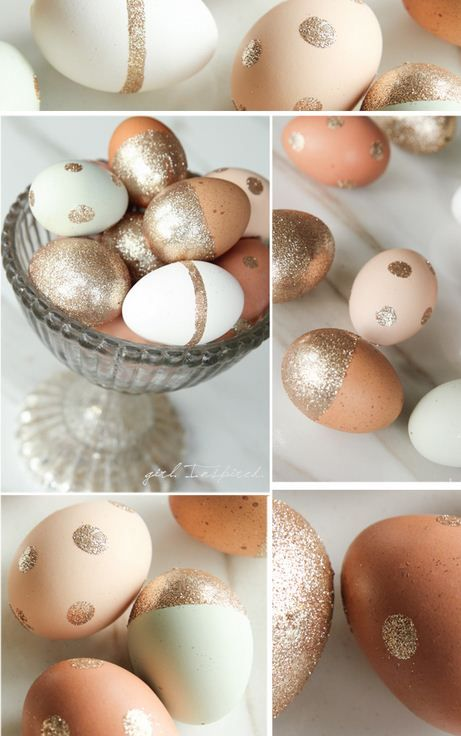 Glitter Easter Eggs from @Stef (Girl. Inspired.) #Easter #EggDecorating