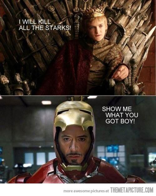 King Joffery // Game of Thrones // Tony Stark // Iron Man // Mash-Up