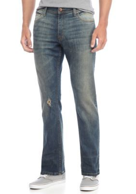 True Craft Men's Slim Fit Victory Stretch Jeans - Medium Stone - 34 X 32