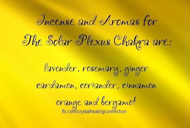 Solar Plexus Chakra - Incense & Aromas
