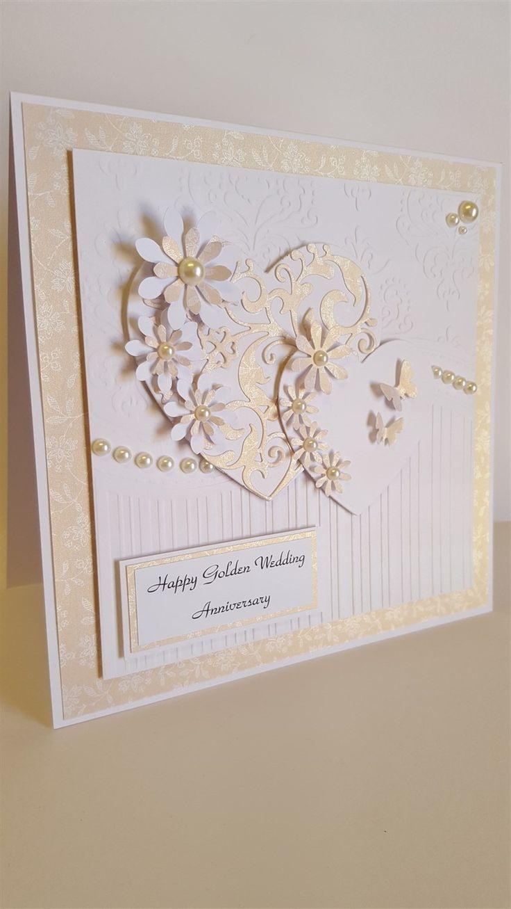 Golden Wedding Anniversary card docraftscom 417