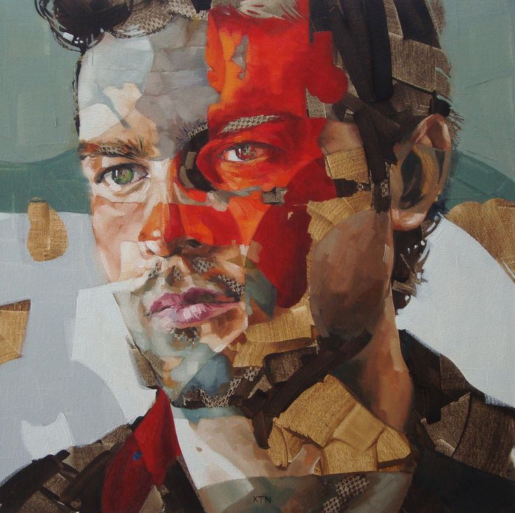 "Portrait by Corné Eksteen - ""The Conformist"" Oil on canvas, 60 x 60cm"