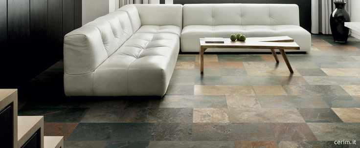 Ceramic stone cladding for rustic flooring: Urban Slate Collection