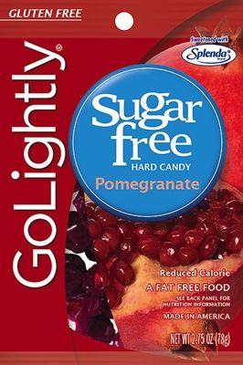 A bulk box of 12 bags of Go Lightly Pomegranate Hard Candy. This magnificent pomegranate flavored sugar free hard candy is guaranteed to leave your taste buds is an overwhelming state of joy.